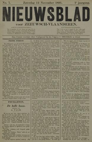 Nieuwsblad voor Zeeuwsch-Vlaanderen 1891-11-14