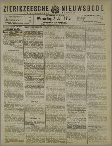 Zierikzeesche Nieuwsbode 1915-07-07