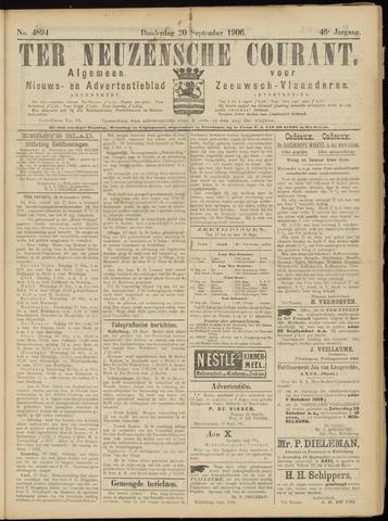 Ter Neuzensche Courant. Algemeen Nieuws- en Advertentieblad voor Zeeuwsch-Vlaanderen / Neuzensche Courant ... (idem) / (Algemeen) nieuws en advertentieblad voor Zeeuwsch-Vlaanderen 1906-09-20