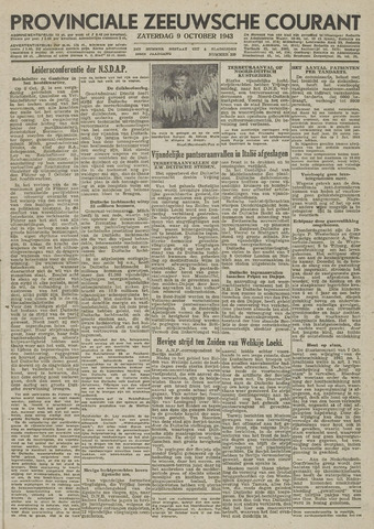 Provinciale Zeeuwse Courant 1943-10-09