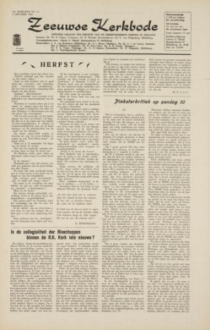 Zeeuwsche kerkbode, weekblad gewijd aan de belangen der gereformeerde kerken/ Zeeuwsch kerkblad 1964-10-02