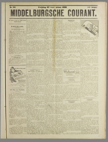 Middelburgsche Courant 1925-11-27
