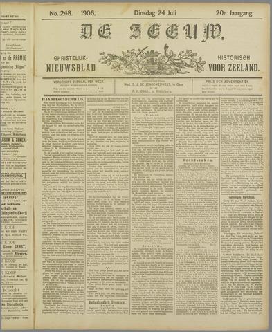 De Zeeuw. Christelijk-historisch nieuwsblad voor Zeeland 1906-07-24