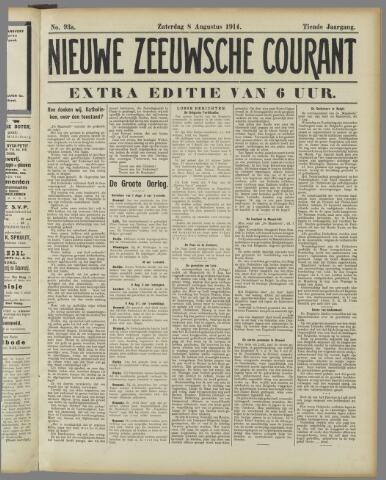 Nieuwe Zeeuwsche Courant 1914-08-08