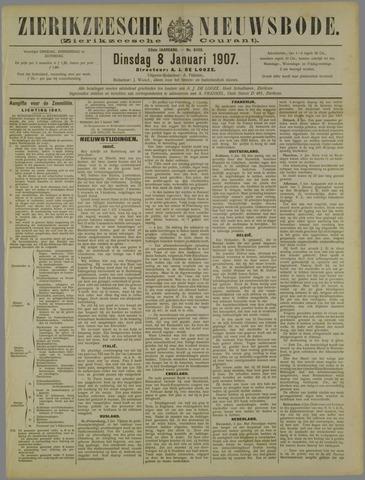 Zierikzeesche Nieuwsbode 1907-01-08