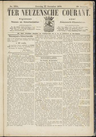 Ter Neuzensche Courant. Algemeen Nieuws- en Advertentieblad voor Zeeuwsch-Vlaanderen / Neuzensche Courant ... (idem) / (Algemeen) nieuws en advertentieblad voor Zeeuwsch-Vlaanderen 1879-12-27