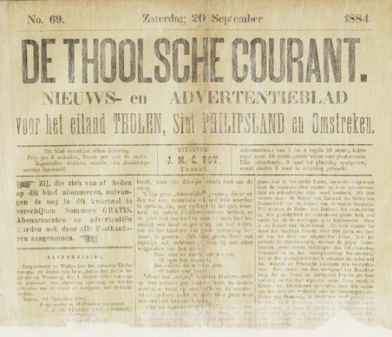 Ierseksche en Thoolsche Courant 1884-09-20