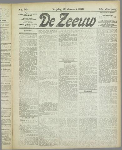 De Zeeuw. Christelijk-historisch nieuwsblad voor Zeeland 1919-01-17