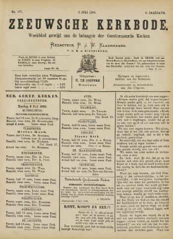 Zeeuwsche kerkbode, weekblad gewijd aan de belangen der gereformeerde kerken/ Zeeuwsch kerkblad 1890-07-06