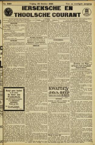 Ierseksche en Thoolsche Courant 1926-10-22