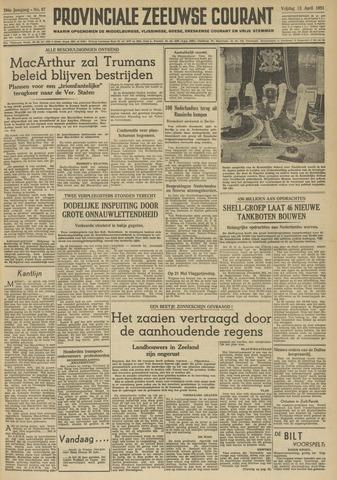 Provinciale Zeeuwse Courant 1951-04-13