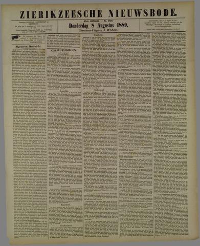Zierikzeesche Nieuwsbode 1889-08-08
