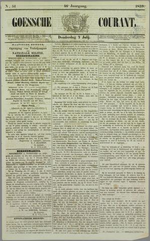 Goessche Courant 1859-07-07