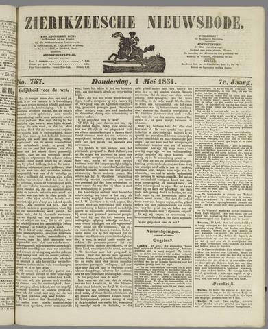 Zierikzeesche Nieuwsbode 1851-05-01