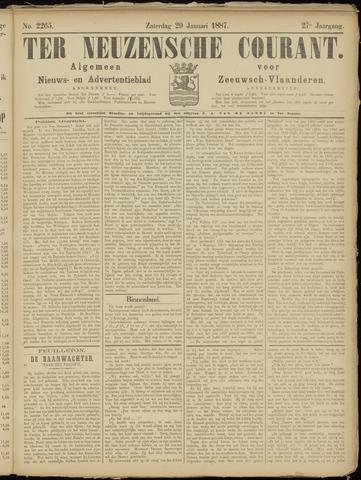 Ter Neuzensche Courant. Algemeen Nieuws- en Advertentieblad voor Zeeuwsch-Vlaanderen / Neuzensche Courant ... (idem) / (Algemeen) nieuws en advertentieblad voor Zeeuwsch-Vlaanderen 1887-01-29