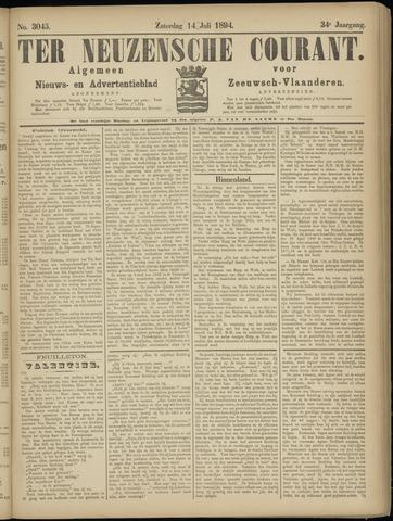 Ter Neuzensche Courant. Algemeen Nieuws- en Advertentieblad voor Zeeuwsch-Vlaanderen / Neuzensche Courant ... (idem) / (Algemeen) nieuws en advertentieblad voor Zeeuwsch-Vlaanderen 1894-07-14