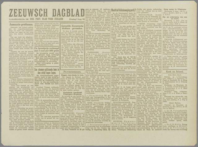 Zeeuwsch Dagblad 1945-08-07