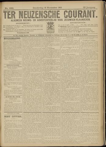 Ter Neuzensche Courant. Algemeen Nieuws- en Advertentieblad voor Zeeuwsch-Vlaanderen / Neuzensche Courant ... (idem) / (Algemeen) nieuws en advertentieblad voor Zeeuwsch-Vlaanderen 1915-11-18