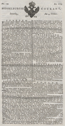 Middelburgsche Courant 1777-10-04