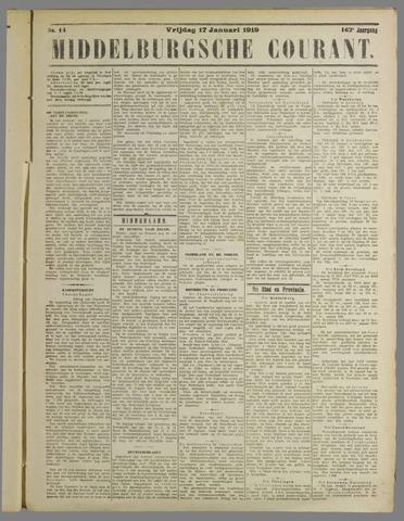 Middelburgsche Courant 1919-01-17