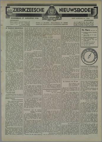 Zierikzeesche Nieuwsbode 1936-08-27