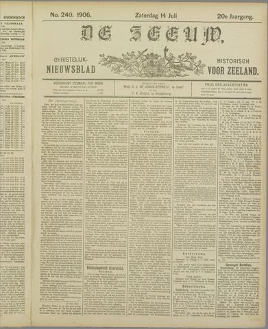 De Zeeuw. Christelijk-historisch nieuwsblad voor Zeeland 1906-07-14