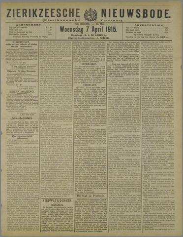 Zierikzeesche Nieuwsbode 1915-04-07