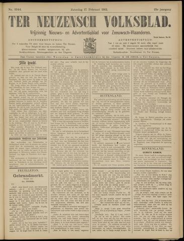 Ter Neuzensch Volksblad. Vrijzinnig nieuws- en advertentieblad voor Zeeuwsch- Vlaanderen / Zeeuwsch Nieuwsblad. Nieuws- en advertentieblad voor Zeeland 1912-02-17