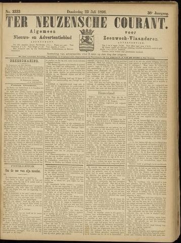 Ter Neuzensche Courant. Algemeen Nieuws- en Advertentieblad voor Zeeuwsch-Vlaanderen / Neuzensche Courant ... (idem) / (Algemeen) nieuws en advertentieblad voor Zeeuwsch-Vlaanderen 1896-07-23