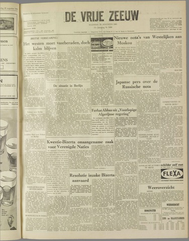 de Vrije Zeeuw 1961-08-28