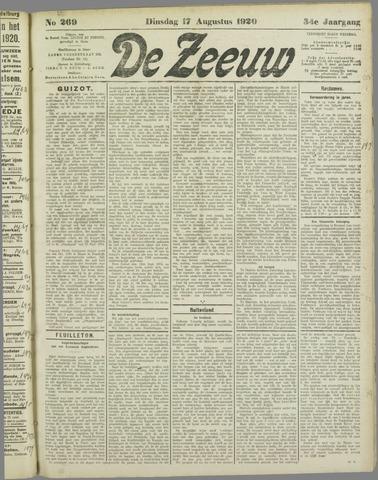 De Zeeuw. Christelijk-historisch nieuwsblad voor Zeeland 1920-08-17