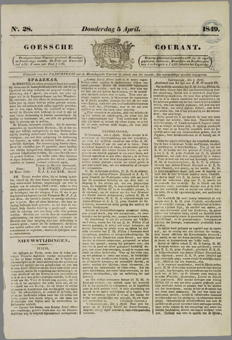 Goessche Courant 1849-04-05