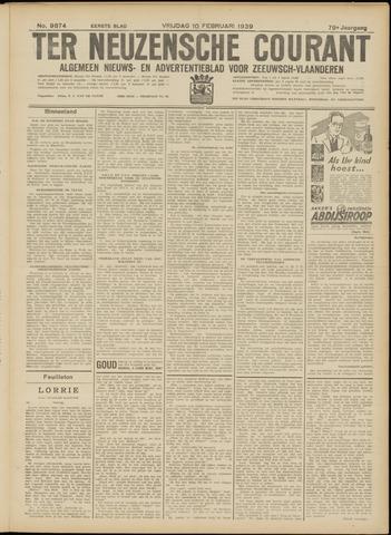 Ter Neuzensche Courant. Algemeen Nieuws- en Advertentieblad voor Zeeuwsch-Vlaanderen / Neuzensche Courant ... (idem) / (Algemeen) nieuws en advertentieblad voor Zeeuwsch-Vlaanderen 1939-02-10