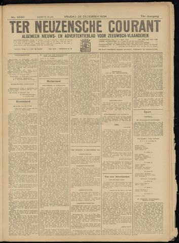 Ter Neuzensche Courant. Algemeen Nieuws- en Advertentieblad voor Zeeuwsch-Vlaanderen / Neuzensche Courant ... (idem) / (Algemeen) nieuws en advertentieblad voor Zeeuwsch-Vlaanderen 1934-12-28
