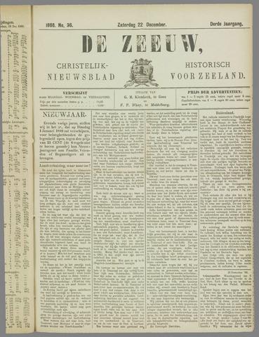 De Zeeuw. Christelijk-historisch nieuwsblad voor Zeeland 1888-12-22