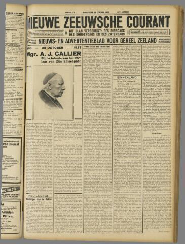 Nieuwe Zeeuwsche Courant 1927-10-27