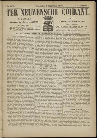 Ter Neuzensche Courant. Algemeen Nieuws- en Advertentieblad voor Zeeuwsch-Vlaanderen / Neuzensche Courant ... (idem) / (Algemeen) nieuws en advertentieblad voor Zeeuwsch-Vlaanderen 1882-09-06