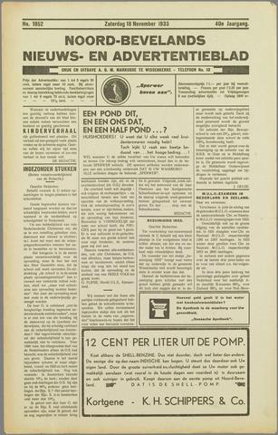 Noord-Bevelands Nieuws- en advertentieblad 1933-11-18