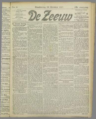 De Zeeuw. Christelijk-historisch nieuwsblad voor Zeeland 1918-10-10