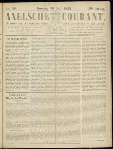 Axelsche Courant 1923-07-10
