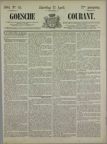 Goessche Courant 1884-04-12