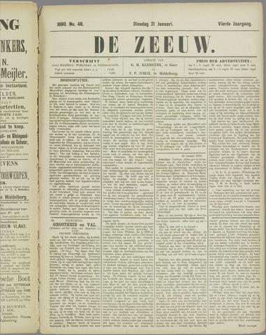 De Zeeuw. Christelijk-historisch nieuwsblad voor Zeeland 1890-01-21