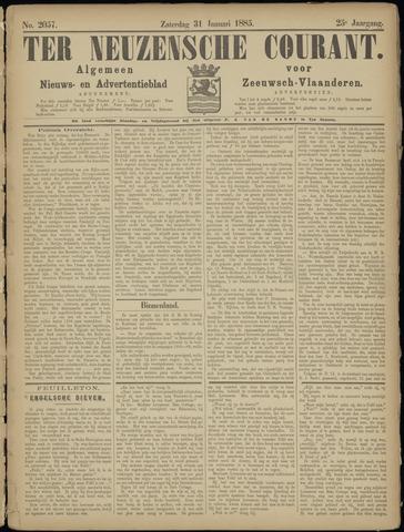 Ter Neuzensche Courant. Algemeen Nieuws- en Advertentieblad voor Zeeuwsch-Vlaanderen / Neuzensche Courant ... (idem) / (Algemeen) nieuws en advertentieblad voor Zeeuwsch-Vlaanderen 1885-01-31