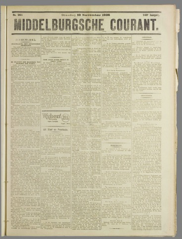 Middelburgsche Courant 1925-11-10