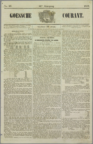 Goessche Courant 1857-07-27