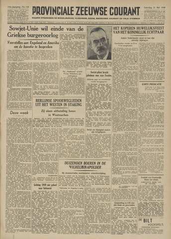Provinciale Zeeuwse Courant 1949-05-21