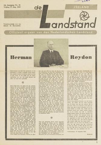 De landstand in Zeeland, geïllustreerd weekblad. 1943-08-27
