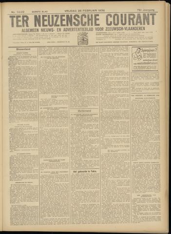 Ter Neuzensche Courant. Algemeen Nieuws- en Advertentieblad voor Zeeuwsch-Vlaanderen / Neuzensche Courant ... (idem) / (Algemeen) nieuws en advertentieblad voor Zeeuwsch-Vlaanderen 1936-02-28