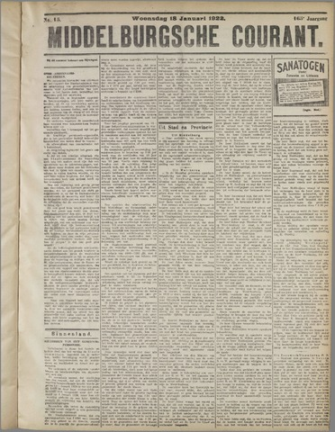Middelburgsche Courant 1922-01-18