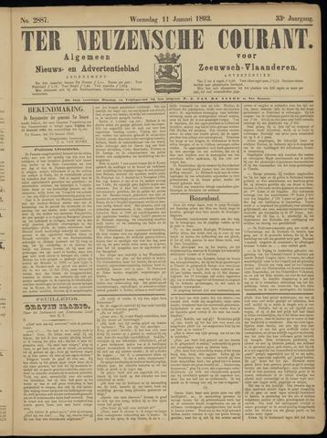 Ter Neuzensche Courant. Algemeen Nieuws- en Advertentieblad voor Zeeuwsch-Vlaanderen / Neuzensche Courant ... (idem) / (Algemeen) nieuws en advertentieblad voor Zeeuwsch-Vlaanderen 1893-01-11